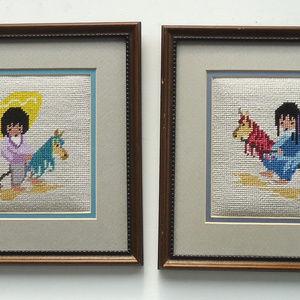 Children & Hobby Horses DeGrazia Needlepoints